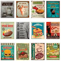 Placas Decorativas Vintage Retro Cervejas Carros Cozinha Bar