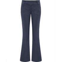 Calça Flare Azul Marinho Cintura Alta Feminina - Marca Seiki