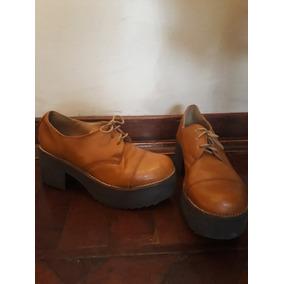 Zapatos Suela Mujer (acordonados Con Taco)