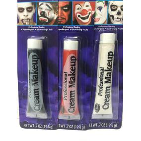 Maquillaje Fantasia Halloween En Crema 3 Piezas