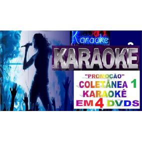 4 Dvds +d 390 Musicas Karaokê Pop Rock Sertanejo Mpb Axé Cd
