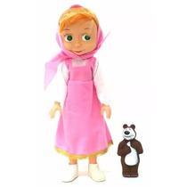 Boneca Masha E O Urso Musical Infantil 32cm Brinquedo Oferta