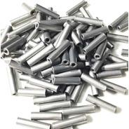 Tubitos De Aluminio N°2 P/ Armar Lider De Pesca X 200 Unid