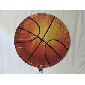 Globo Balón Basquetbol Fiestas 5 Pz Helio Evento 18 Pulgadas
