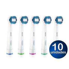 Refil Escova Elétrica Oral B Braun Com 10 Unidades Original