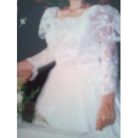 Vestido de novia en gasa cristal