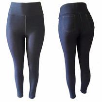 Calça Legging De Malha Jeans No Tamanho 36 Ao 50