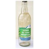 Botella Vacía De Jarabe De Goma, Vintage De Los Años 80