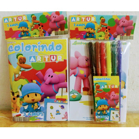 Promoção Kit Colorir + Canetinha 6 Cores