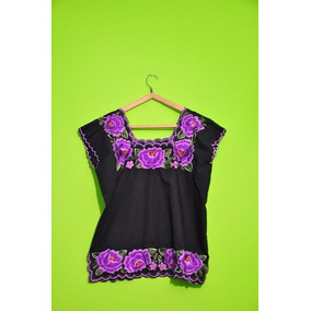 Blusas Mexicanas Bordadas Con Flores