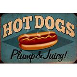 6 Carteles Chapa Vintage Hot Dog Panchos Beer Cerveza Comida