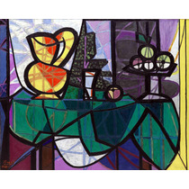 Lienzo Tela Canvas Pablo Picasso Jarra Tazón Fruta 130 X 162