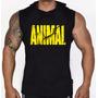 Regata Machão Com Capuz Animal Fitness Para Academia Treino