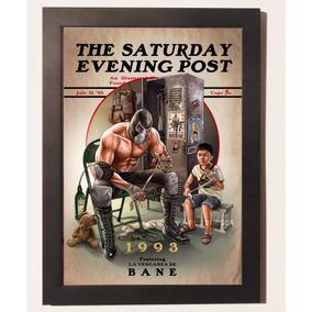 Quadros Poster Vintage Bane Batman C Moldura Geek Vintage