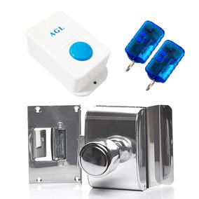 Fechadura Elétrica Portas / Vidro Pvr1i +2 Controles Remotos