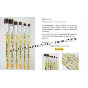 Pincel Para Carga Dupla Keramik Serie Decorada - Amarela 8