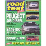 Revista Road Test Nº51 Peugeot 405 Diesel Saab 900 Turbo
