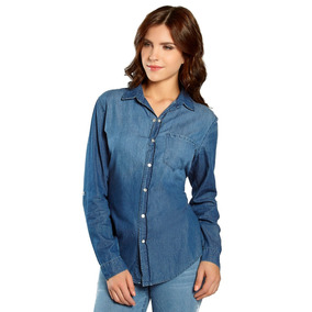Blusa Estilo Camisa Manga Larga Con Diseño Femenina 13107