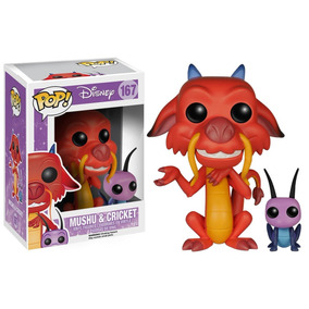 Boneco Funko Pop! Disney: Mulan - Mushu & Cricket N.º167