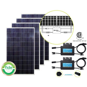 Kit Interconexion A Cfe 4 Paneles Solares 260 Watts, 2 Micro