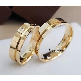 Alianças Ouro 18k 6 Gramas 5 Mm Diamante Casamento Promoção