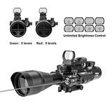 Pinty Ar15 Rifle Scope 4-12x50eg Telémetro Óptica Iluminada