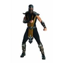 Mortal Kombat Scorpion Disfraz Adulto, Dorado, Un Tamaño