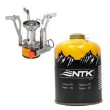 Mini Fogareiro Automático + Maxxgás Camping Trekking Trilha