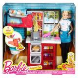 Barbie Cheff - Cocinera De Pastas. Set Cocina Mattel