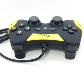 Controle Joystick Com Fio Corda Ps3 Pc Smash Dual Feir 218a