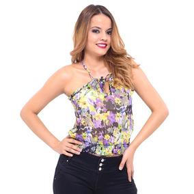 Blusa Dama Con Estampado Floral