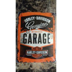 .:. Placa Cuadro Lámina Decorativa Harley-davidson Alemana
