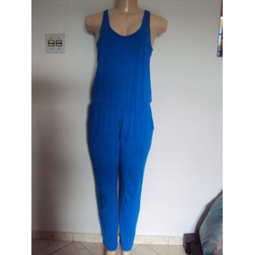 Macacão Azul Feminino Longo Tamanho M