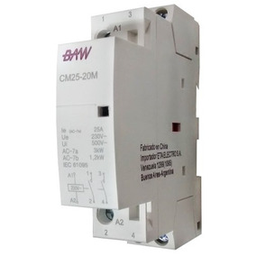 Contactor Modular 25amp 2p 1 Módulo Baw Cm25-20m
