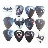 Paquete 10 Puas O Plumillas De Batman Para Guitarra 1.0 Mm