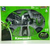 Moto Kit Para Armar Kawasaki Zx10r Escala 1:12 Newray