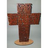 Cruz Padre Nuestro 25 Cm Madera Comunión Regalo Souvenir