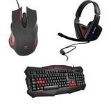 Kit Gamer Teclado, Mouse, Fone