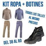 Ropa De Trabajo Kit Camisa Pantalon Y Botin De Seguridad Ofe