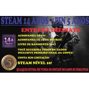 Steam 14 Anos   Medalha 5 Anos   Csgo Sl
