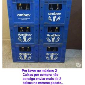 Caixa / Engradado / Litrão / Com 12 Vasilhames Cerveja Ambev