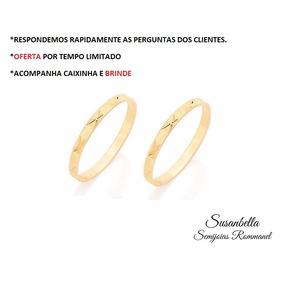 Par Aliança Folhead Ouro 18k Rommanel -510027-promoção