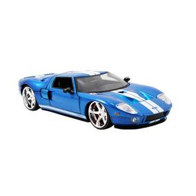 Miniatura Velozes E Furiosos Ford Gt Escala 1:24 Azul