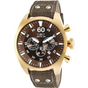 Reloj Invicta 19669 Hombre Crono Cuero Fecha 100m Sumergible