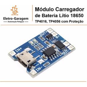 Módulo Carregador De Bateria Lítio Tp4016 E Tp4056 Proteção