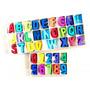 Lote 108 Letras +40 Números Madera Autoadhesivos Color Caja