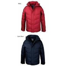 Jaqueta Masculina Reforçado Capuz E Ziper -inverno Casaco