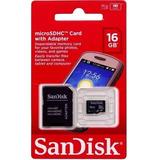 Cartão De Memória Micro Sd 16gb Sandisk Frete R$ 8,00 Brasil
