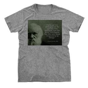 Camiseta Charles Darwin - Camisetas para Masculino no Mercado Livre ... 9a150c8944b