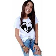 Blusa Feminina Infantil Amor Garota Cavalo Country Tshirt